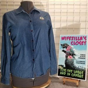 Cutter & Buck Green Bay Packer Embroidered Shirt